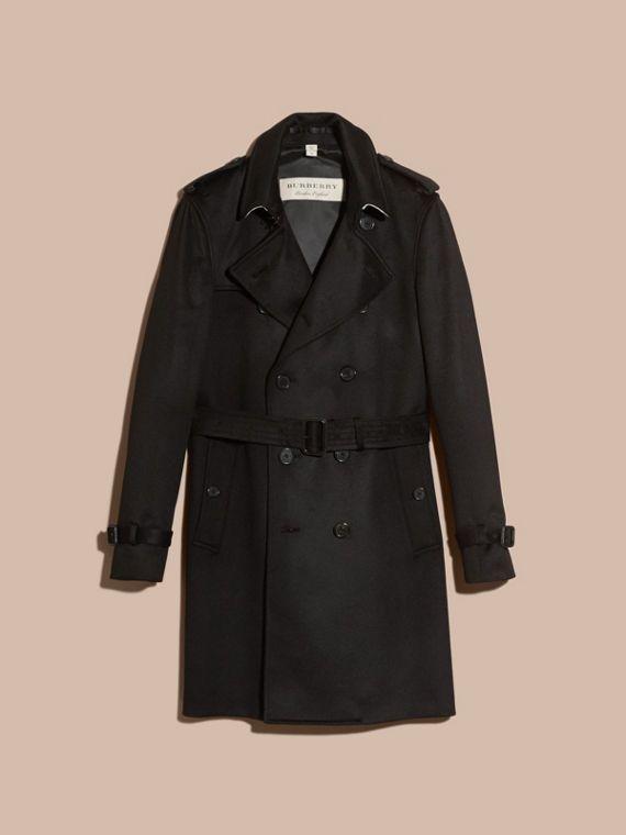 Coat Manteaux Cachemire Noir Burberry En Trench Et Doudounes dOxTwt