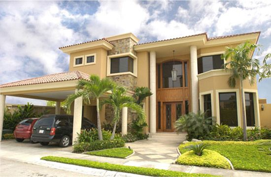 Gama de verde para exteriores fachadas de casas buscar for Fachadas de casas modernas puerto rico