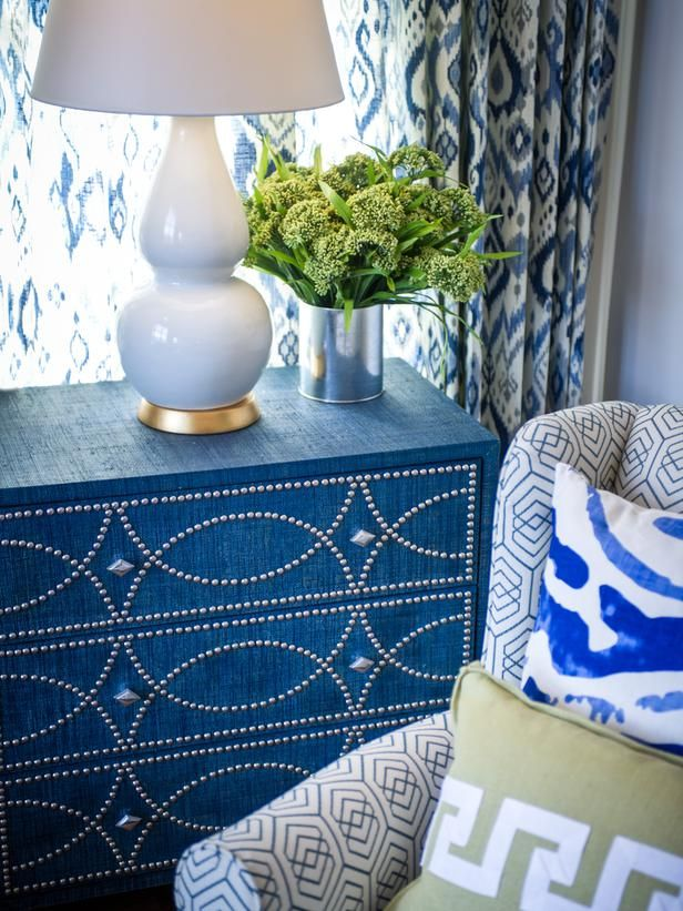 HGTV Smart Home 2014 Great Room - photo: Eric Perry. Get the look: Use Paint Couture Embossing Medium to create the Grasscloth look with Lake Norman Blue and Black Chiffon glaze.