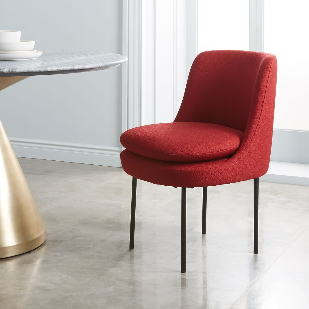 Modern Curved Upholstered Dining Chair Dining chairs