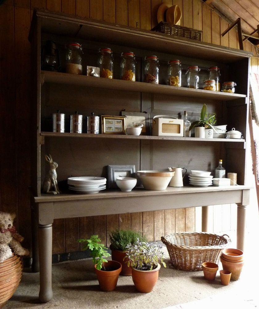 Kitchen dresser room divider shabby chic kitchen shelves painted