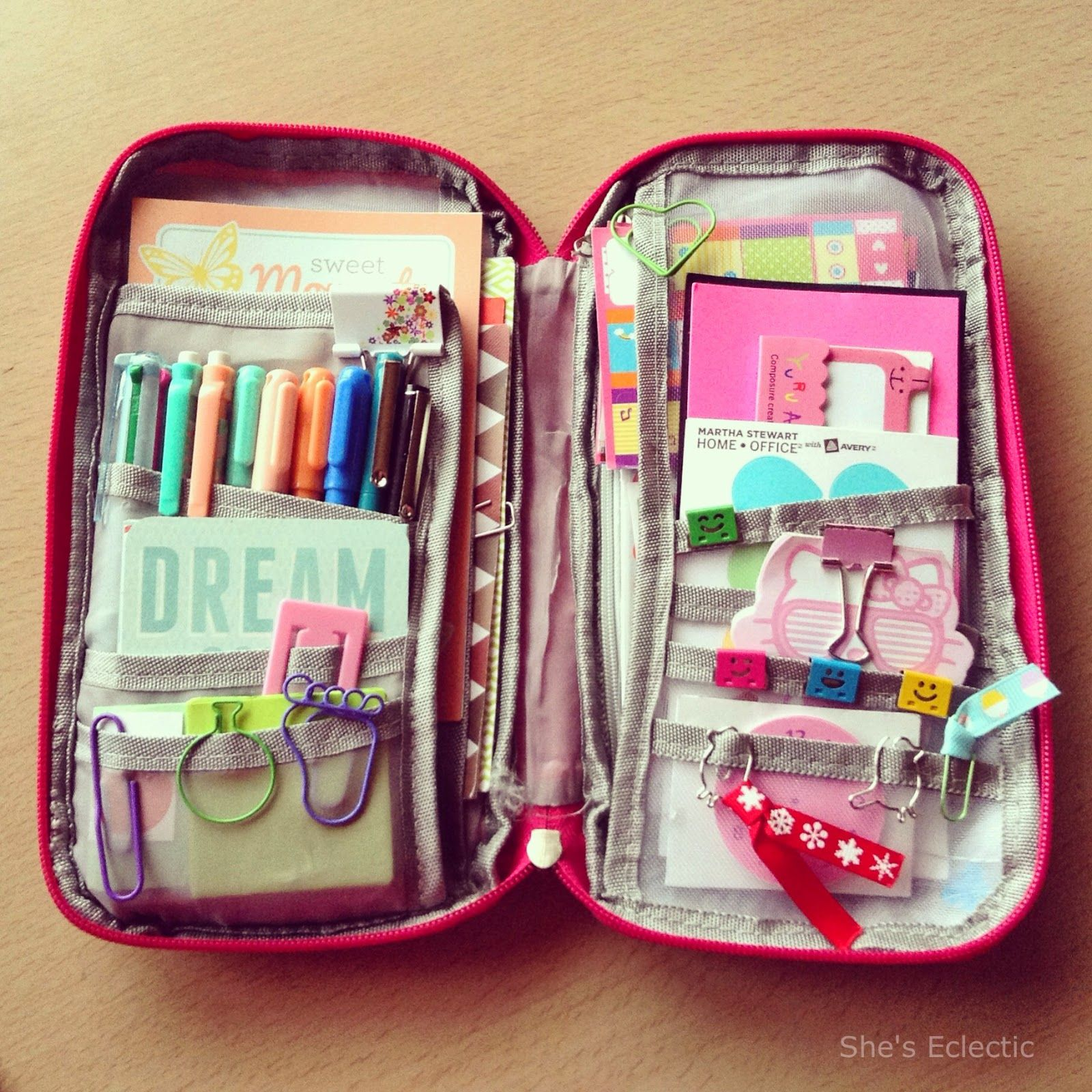 She's Eclectic National Stationery Week pencil case day