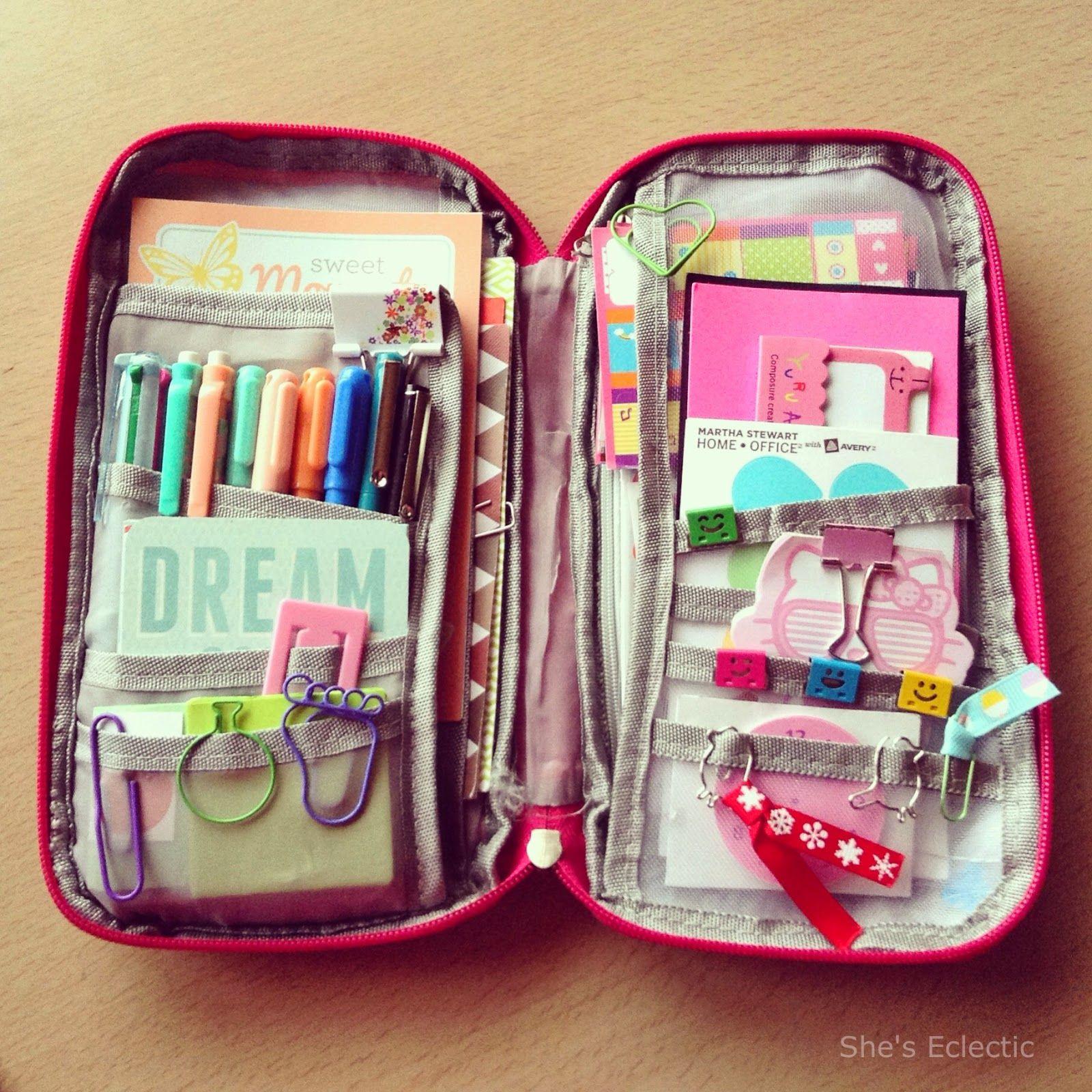 Decorate Pencil Case Diy Binder Organizer Duct Tape Zipper Pouch Pen Holder