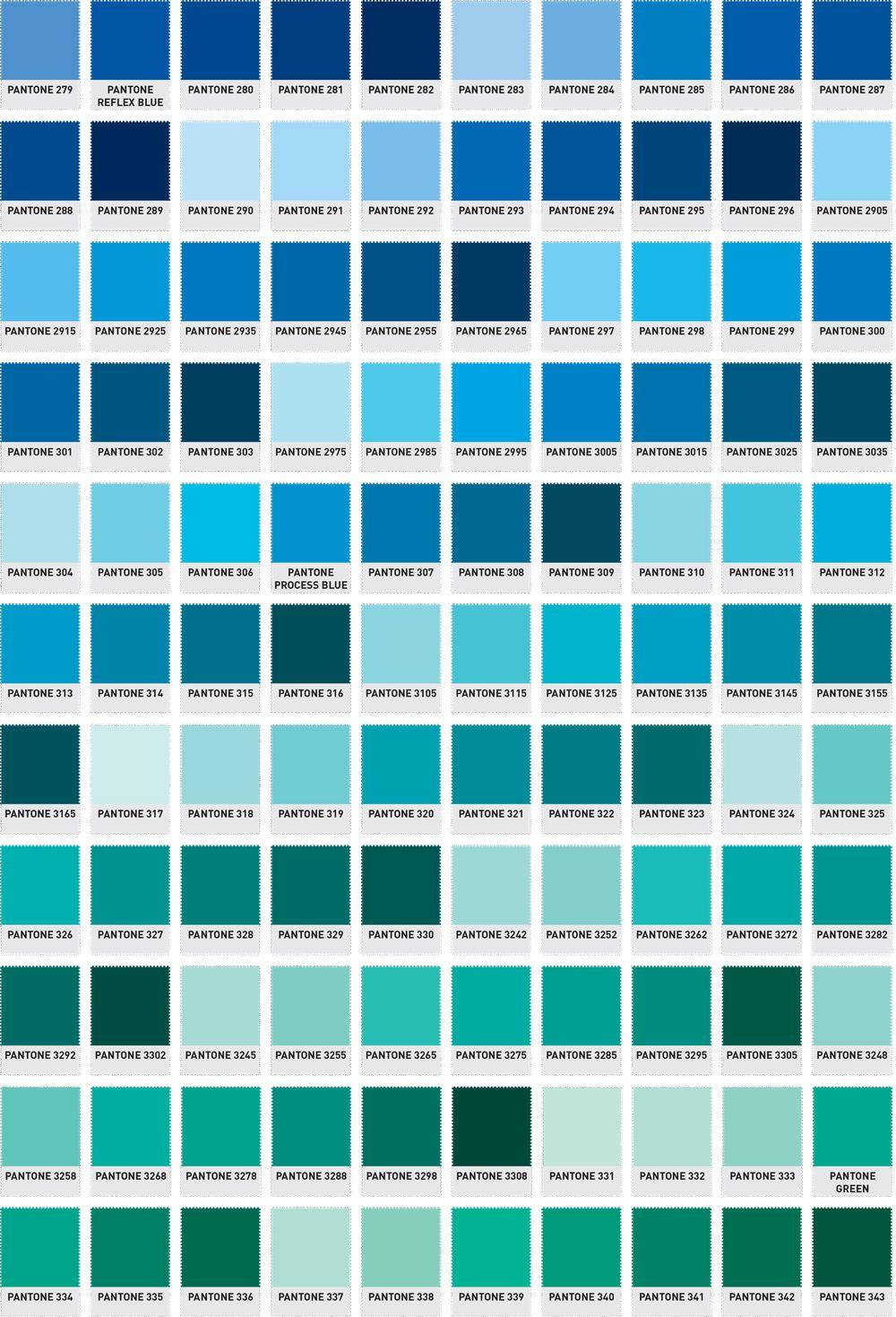 Pantone Colour Chart 4 Jpg 1000 1469 Tipos De Azules Carta De Colores Pintura Colores Para Pintar Paredes