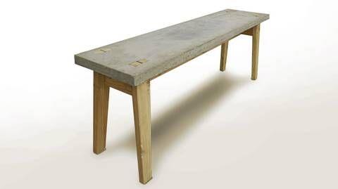 BETONGBENK: Denne benken kan du enkelt støpe selv.