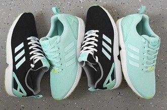 shoes adidas black blue white zx flux mint adidas zx flux adidas zx flux 2.0 adidas originals mint green shoes