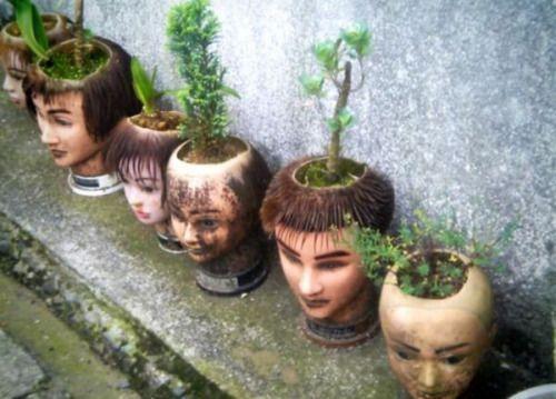 flowerpot heads