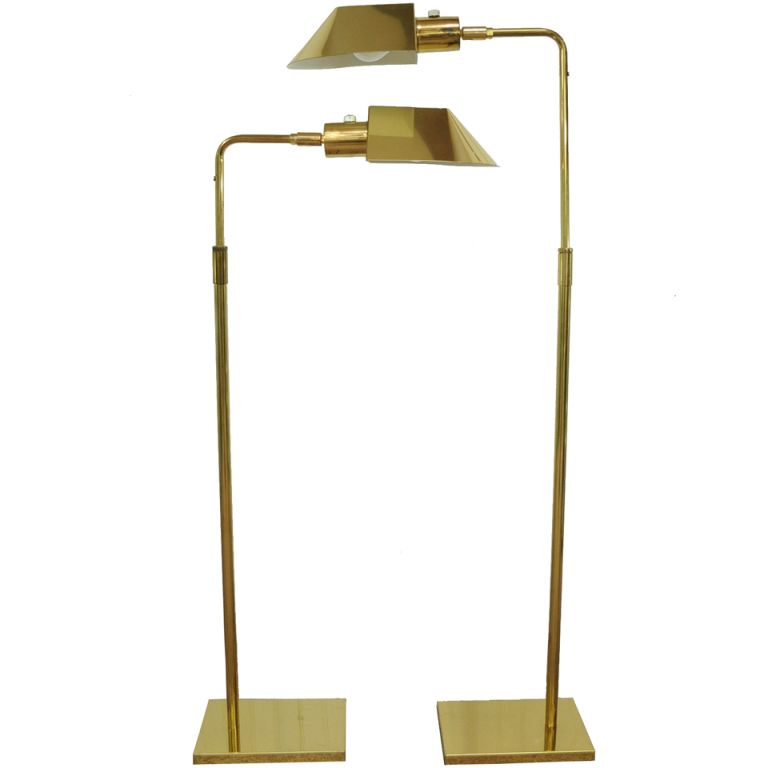 Vintage Pair Of Koch U0026 Lowy OMI Brass Adjustable Floor / Task Lamps |  1stdibs.com