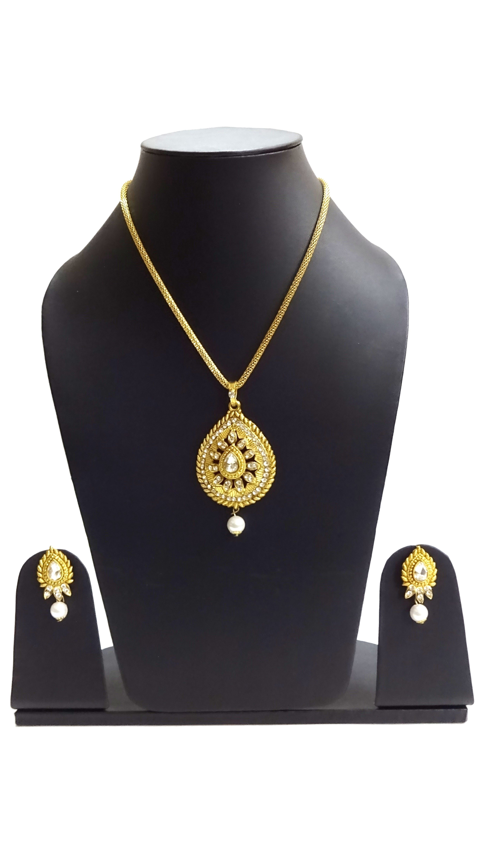 Rian crafts designer ethnic gold plated floral necklace set for
