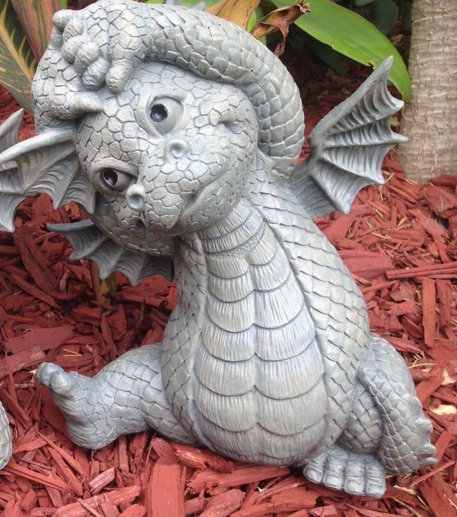 Outdoor decor statues - Playful Dragon Statue 26cm Yoga Dragon Ornament Polyresin Home Garden Decor