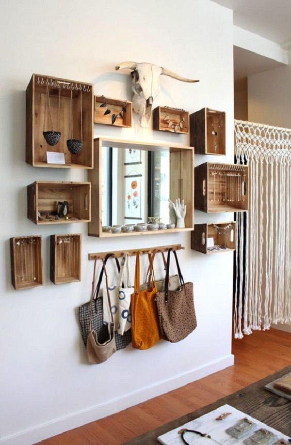 ideas para decorar paredes 2 shelves Pinterest Ideas para