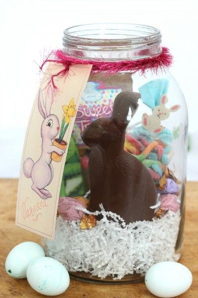 Easter in a jar with free bunny gift tag printable easter in a jar with free bunny gift tag printable eclecticallyvintage negle Image collections
