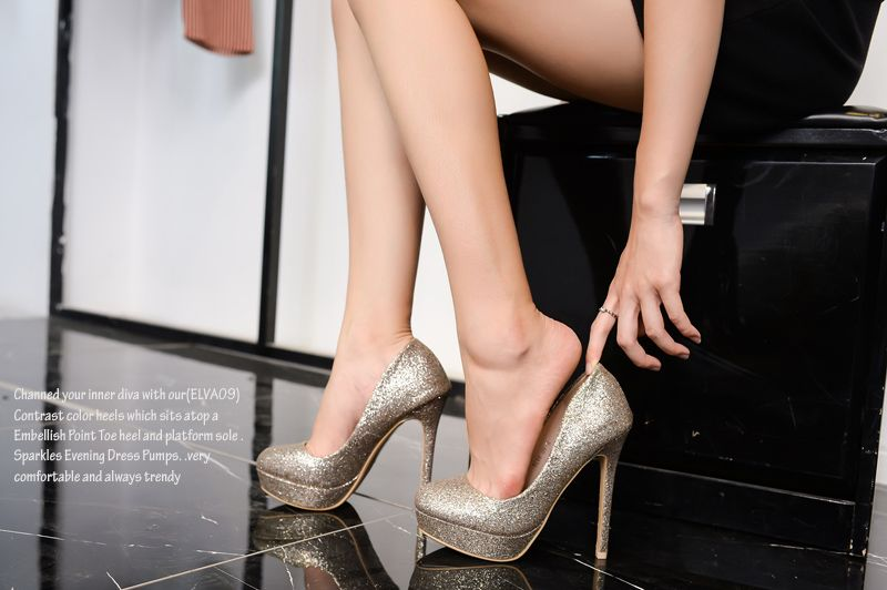 35a3b57edc1 Mila Lady (ELVA09) Women Fashion Embellished Sparkles Party Pumps High Heel  Stilettos Sexy Slip On Dress Shoes www.footwearcouture.com