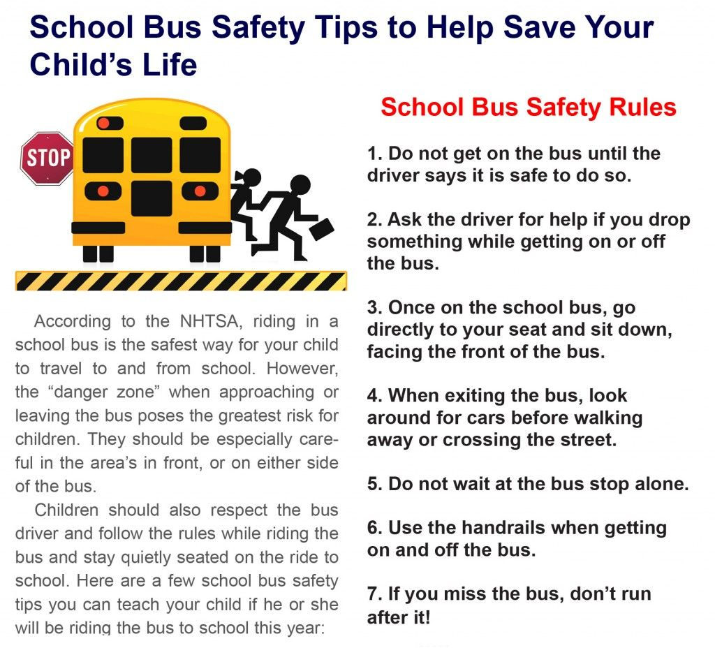 Back to School Bus Safety Tips for Your Child School