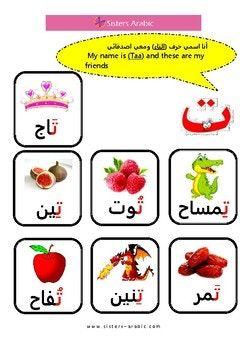 Arabic Letter Taa حرف التاء Learning Arabic Arabic Alphabet Arabic Alphabet For Kids
