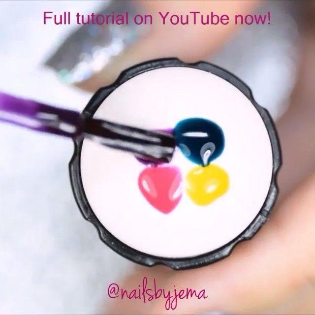 Unicorn oil slick nails by @nailsbyjema 🦄 💕 Song: Keri Hilson ft ...