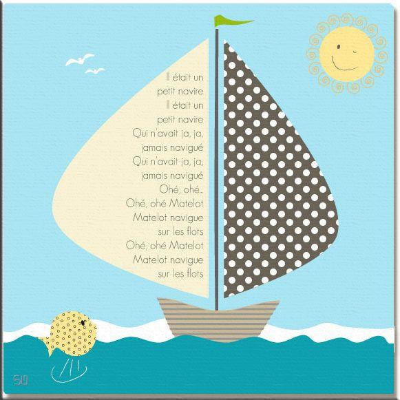 Cadre Comptine Il Etait Un Petit Navire Comptine Maternelle Comptines Chansons Pour Enfants
