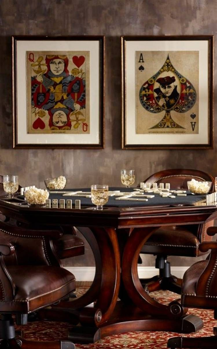 A Poker Table Will Turn Your Man Cave Into A Man Cave 28 Photos