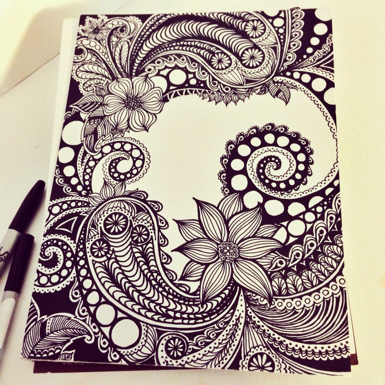 Zen Tangle Art Tumblr Tangle Art Zentangle Art Zentangle