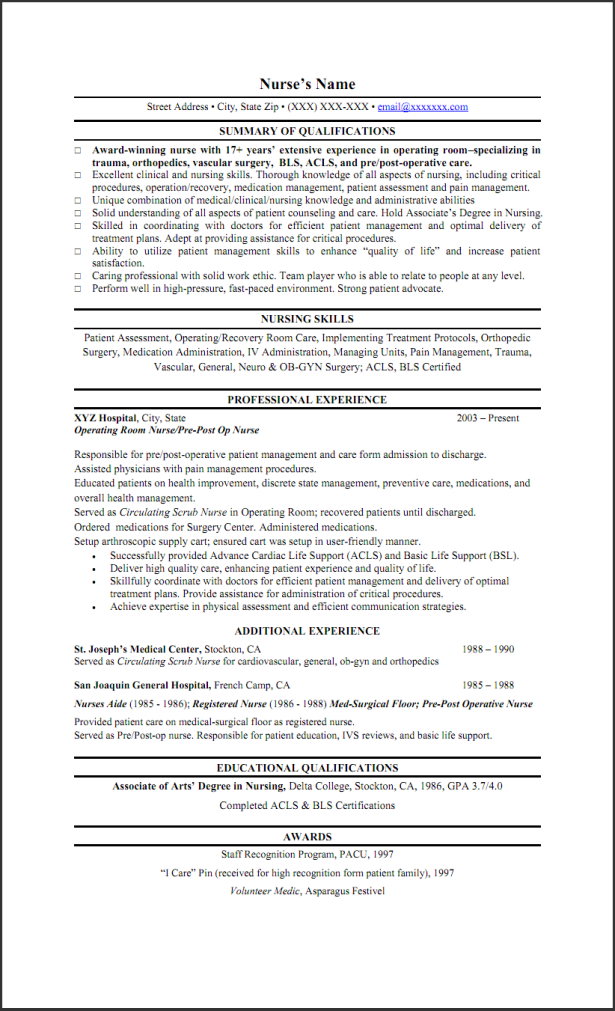 resumes  write a nursing skills on resume template with professional objective and educational