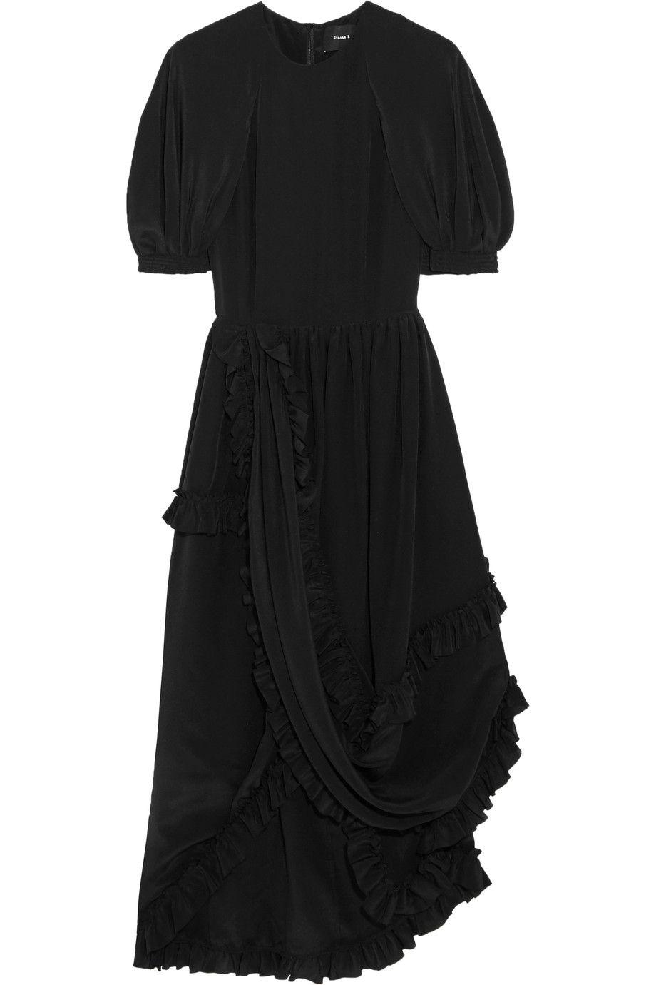 Simone Rocha | Ruffled silk crepe de chine dress | NET-A-PORTER.COM