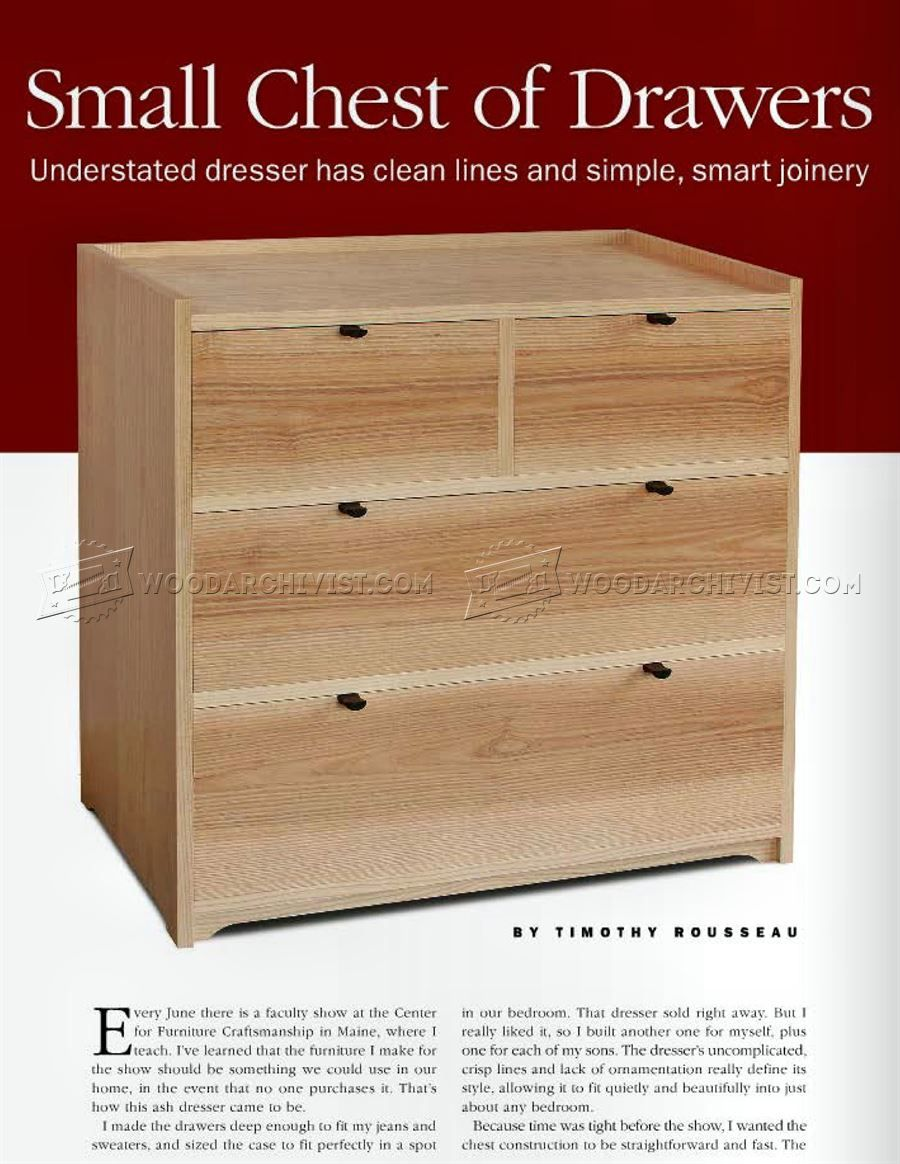 2976 small chest of drawers plans - furniture plans | wood