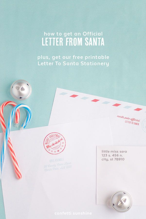 How to get an Official Letter from Santa plus free printable - official letter