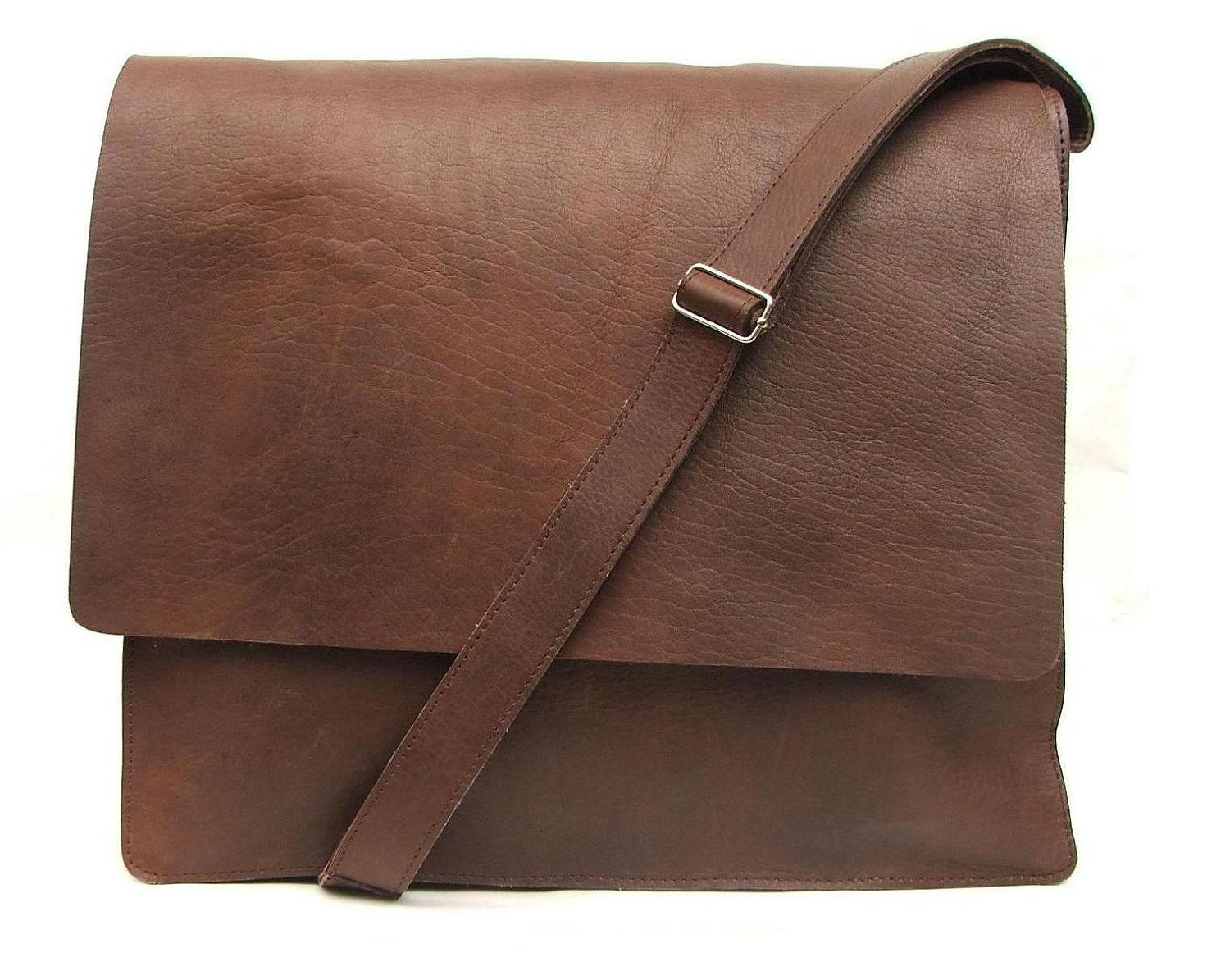 Mens Messenger bag made of 100% Brown Leather for every day use as ...