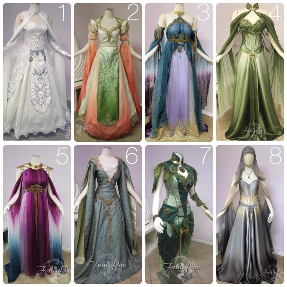 Beautiful elven fairy dresses great reference for for Elven inspired wedding dresses