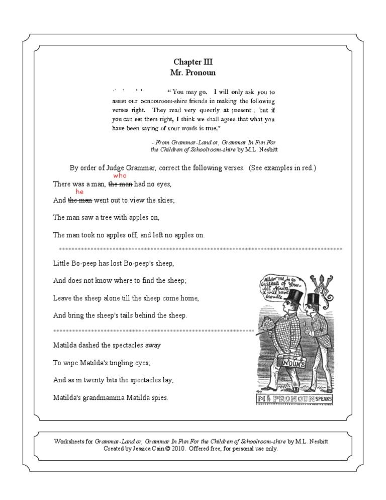 Grammerland worksheet collection for homeschoolers   Homeschool ...