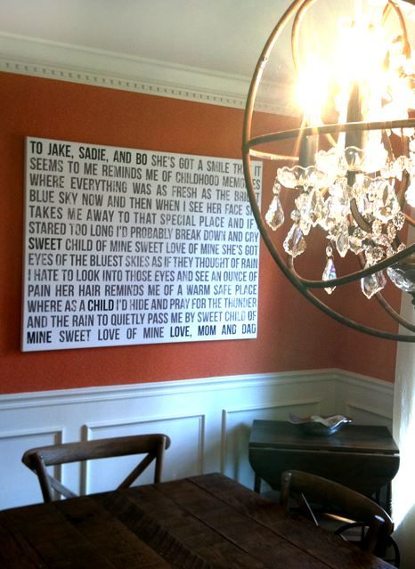 Word Art Such A Great Way To Make Big Statement On Dining Room