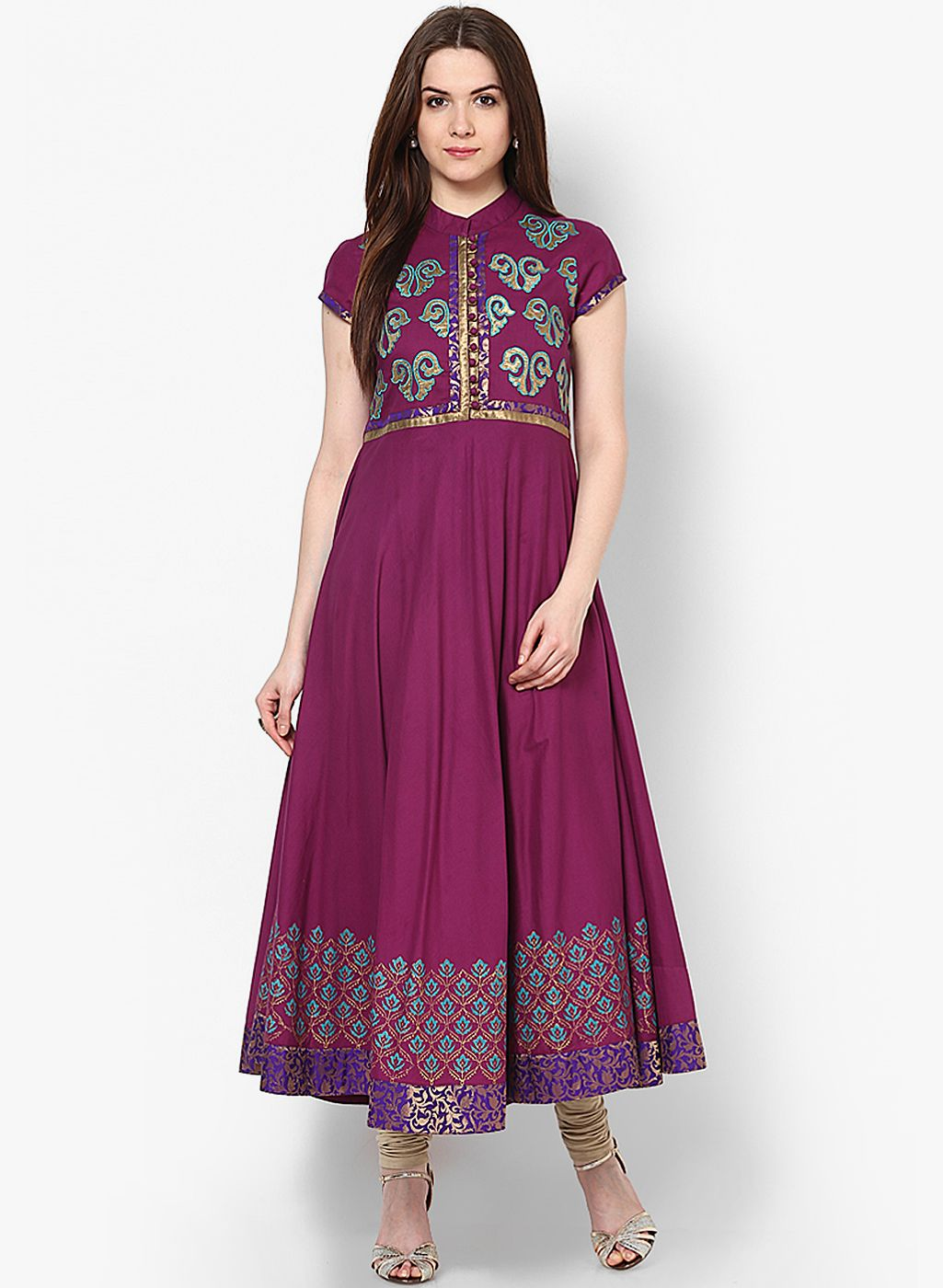Buy MBE Purple Embellished Kurta for Women Online India, Best Prices ...