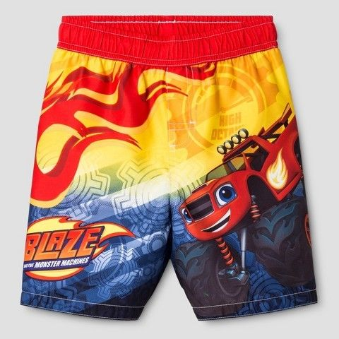 e13718ef24 Blaze Toddler Boys' and the Monster Machines Swim Trunk - Red ...