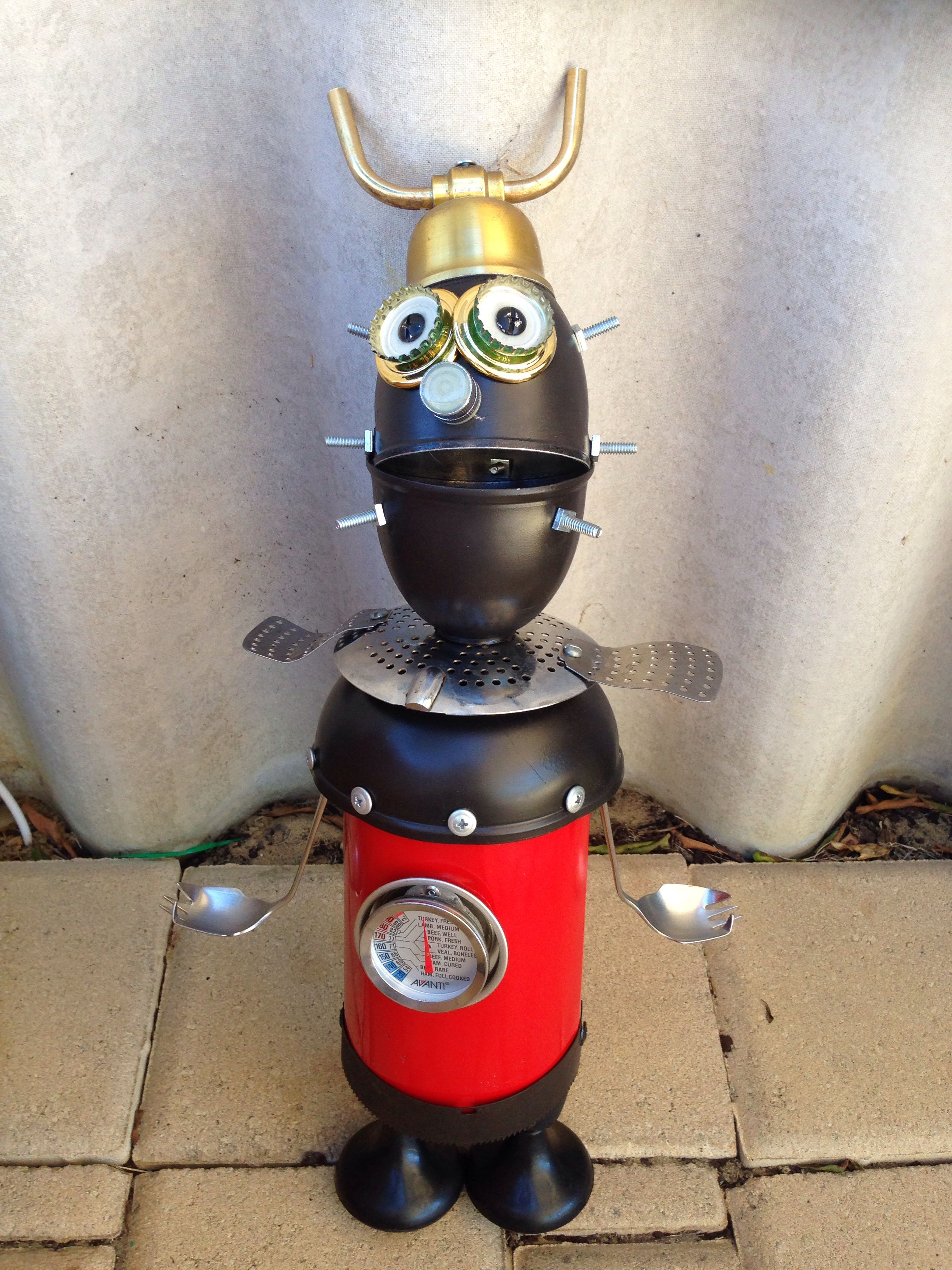 Robot made from recycled material
