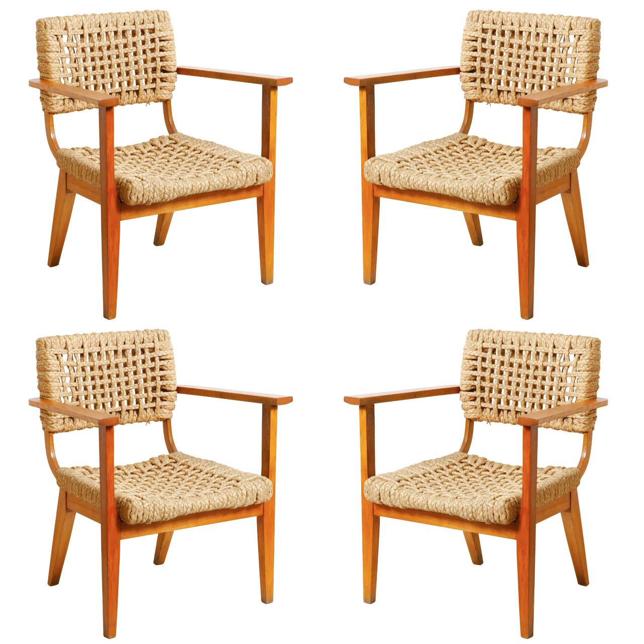 Rare Low Armchairs by Audoux-Minet | From a unique collection of antique and modern armchairs at http://www.1stdibs.com/furniture/seating/armchairs/