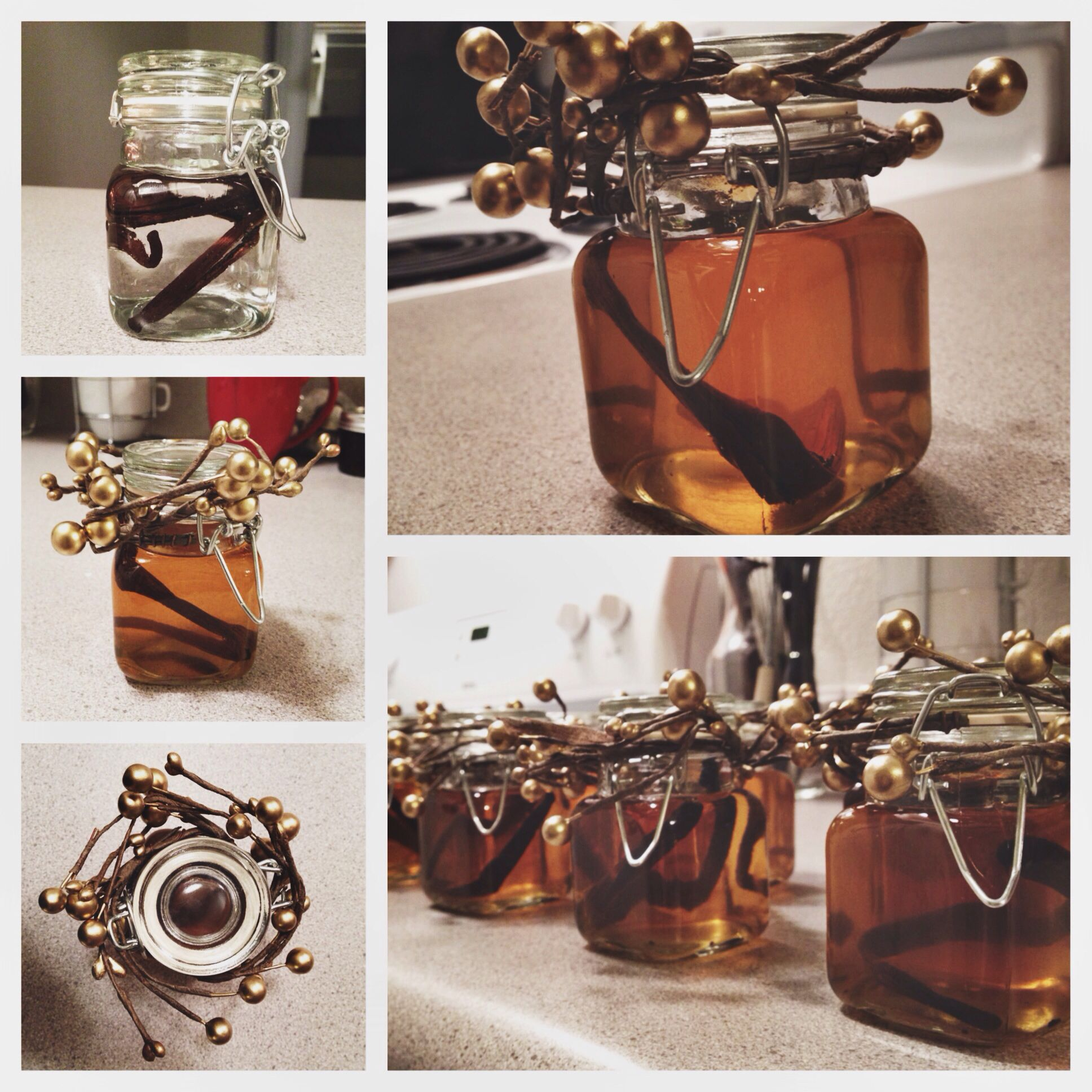 Homemade vanilla extract for office gifts