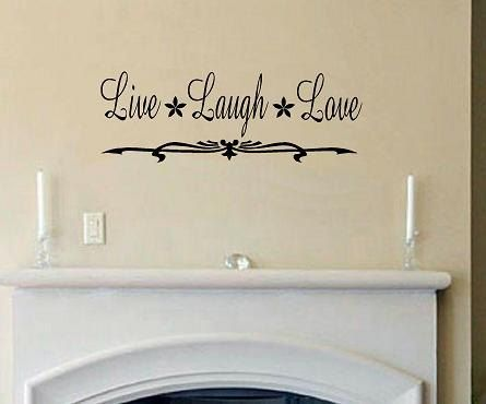 vinyl wall decal quote live laugh love wwalldecalsandquotes