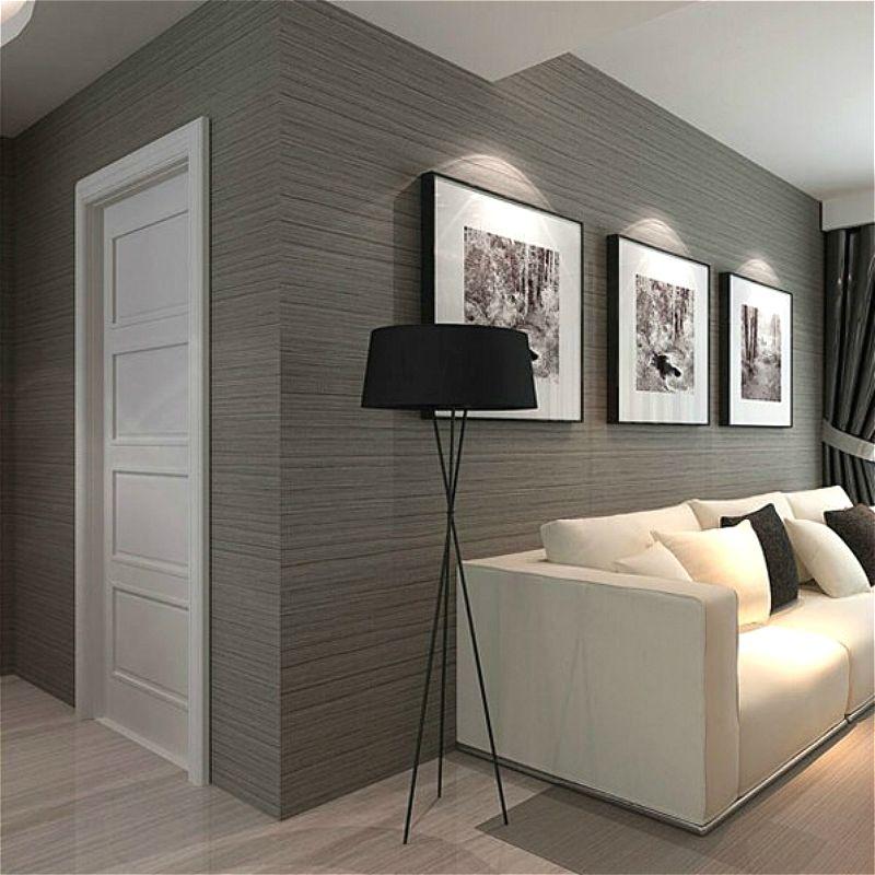 Dark Grey Gray Solid Color Plain Stripe Wallpaper For Wall Vertical Stripes Engineering Grey Wallpaper Living Room Striped Wallpaper Modern Home Decor Bedroom