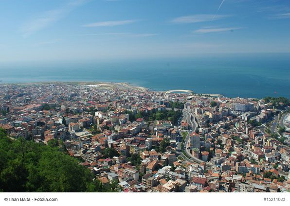 the view of trabzon turkey the port city of trabzon is perched on the black sea on turkey s less developed north coast this former byzantine capital