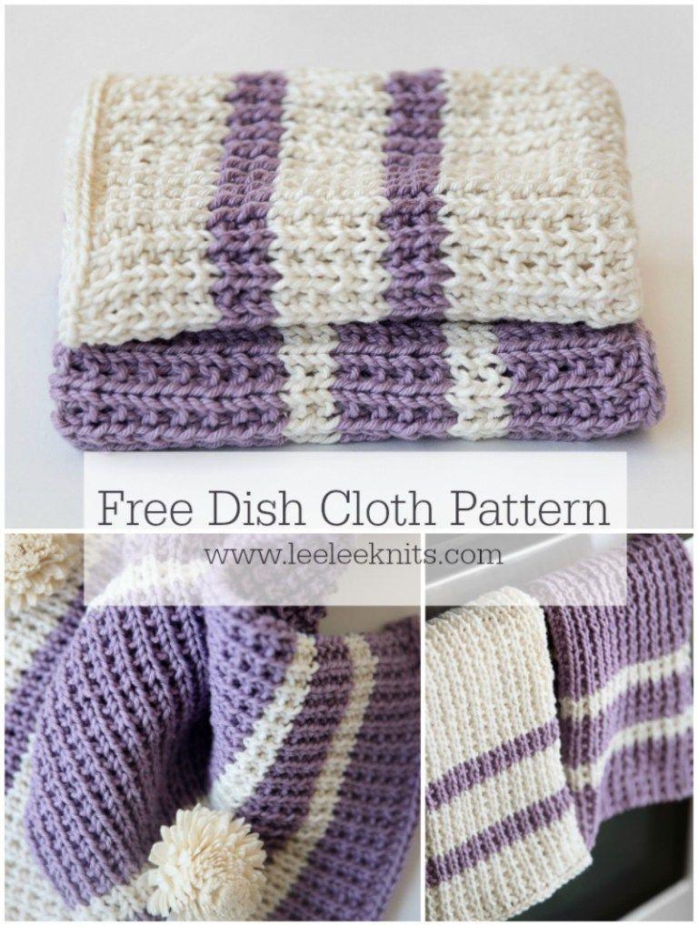 Knit Dishcloth Pattern - Leelee Knits | Hand towel | Pinterest