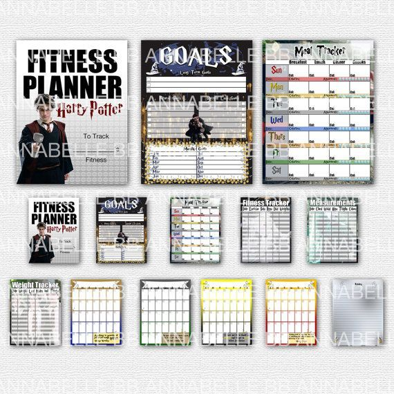 #bbannabelle #fitness #planner #fitness #planner #potter #harry #etsy #this #by #on #aA Harry Potter...