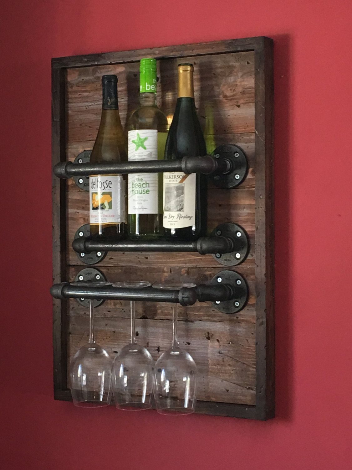 Rustic Wine Rack Made From Reclaimed Pallet Wood And Etsy Reclaimed Wood Diy Woodworking Projects That Sell Rustic Wine Racks