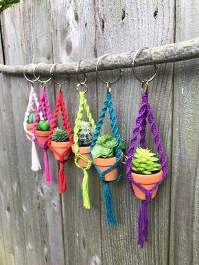Photo of DIY Macrame Mini Plant Hanger Pattern, PDF Instructions, Learn to Macrame, Fun Cute Gift Idea, Beginner Macrame, Wine and Craft Night