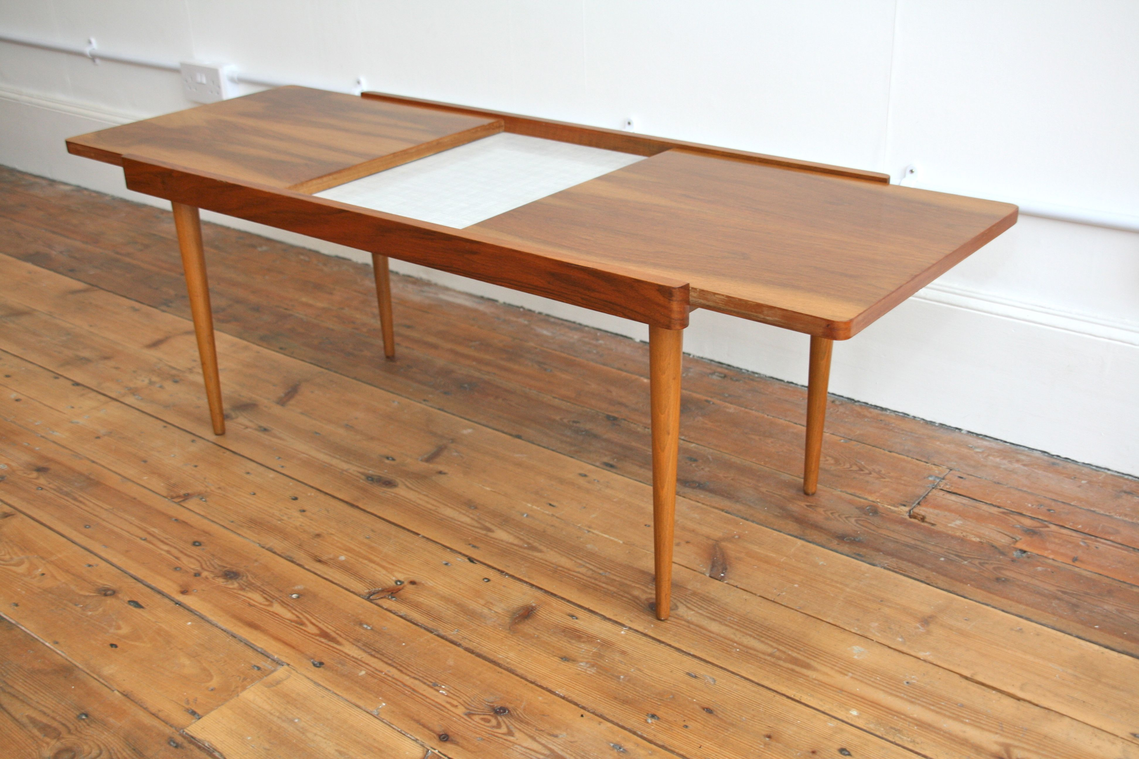 An Extending Coffee Table By Everest. The Leaves Open To Reveal An  Ingenious Formica Hotplate