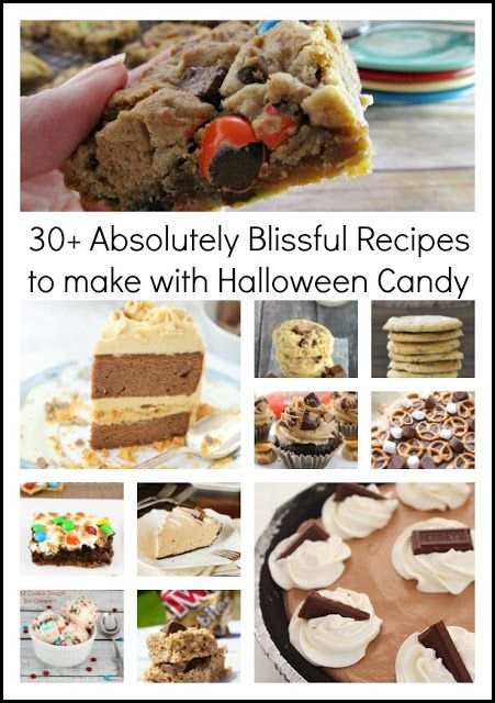 30+ Absolutely Blissful Recipes to make with Halloween Candy - halloween baked goods ideas