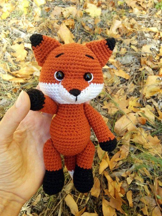 Crochet fox pattern - Cute fox crochet doll pattern amigurumi - ENG/RUS pdf