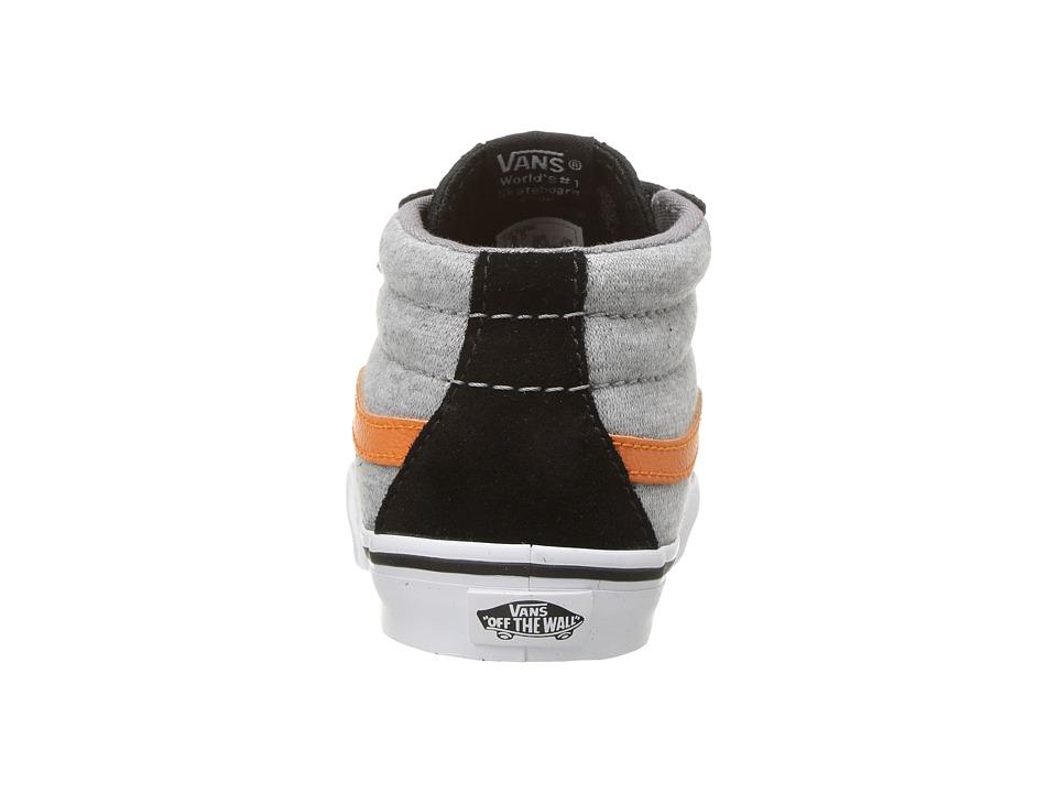 fa281e9b191e Vans Kids Sk8-Mid Reissue V (Infant Toddler) Boys Shoes (Suede   Jersey)  Gray Black