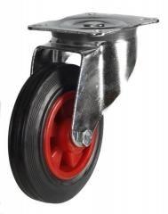 125mm Medium Duty Swivel Castor Rubber Wheel