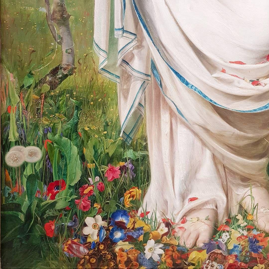 "Frederick Sandys ""Gentle Spring""   Chelsea flower show, Chelsea flower,  Flower show"