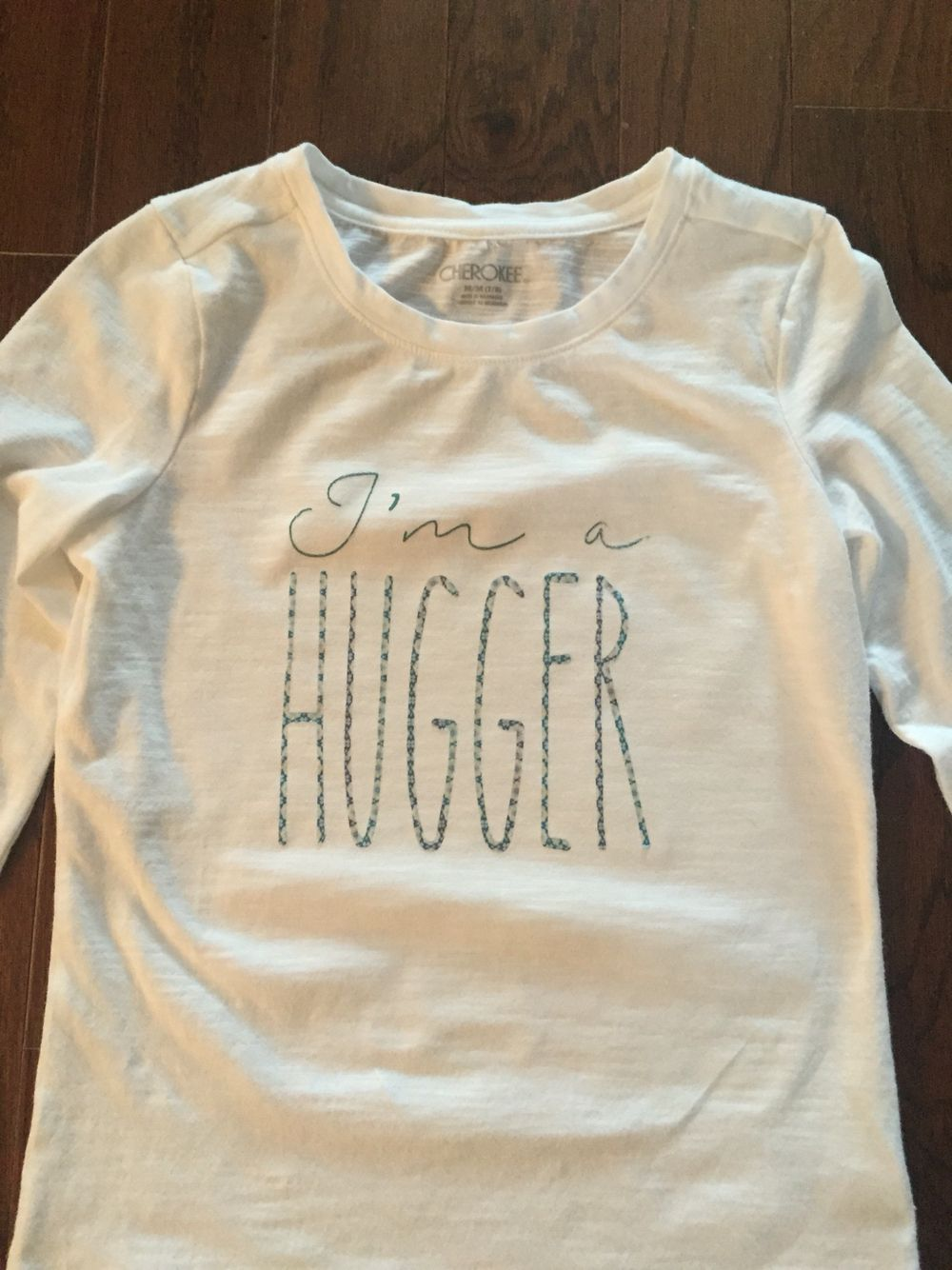 photograph regarding Printable Iron on Vinyl identified as Im a hugger blouse intended utilizing a cricut and printable iron upon